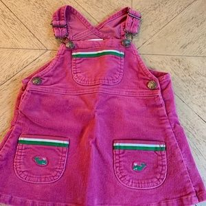 Hartstrings 12 month preppy pink overall dress